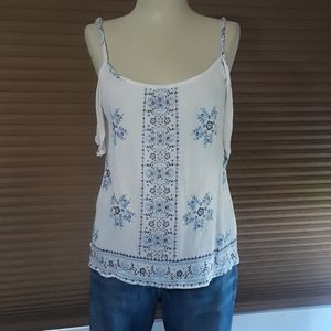 3 for $10 any $5 item Blue /white peasant blouse